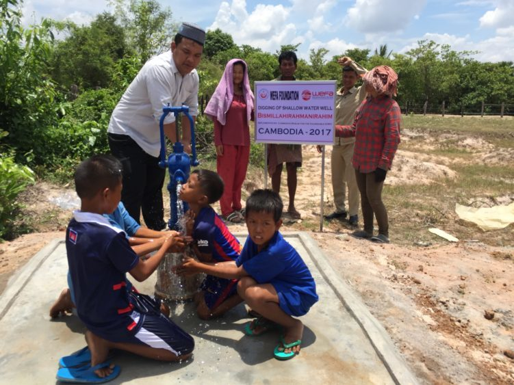 WEFA Uluslararası İnsani Yardım Organizasyonu Asya ve Afrika'da 2017 yılında 9 ülkede açtırdığı su kuyuları ile 29 bin 255 kişinin temiz içme ve kullanma suyuna kavuşmasını sağladı.