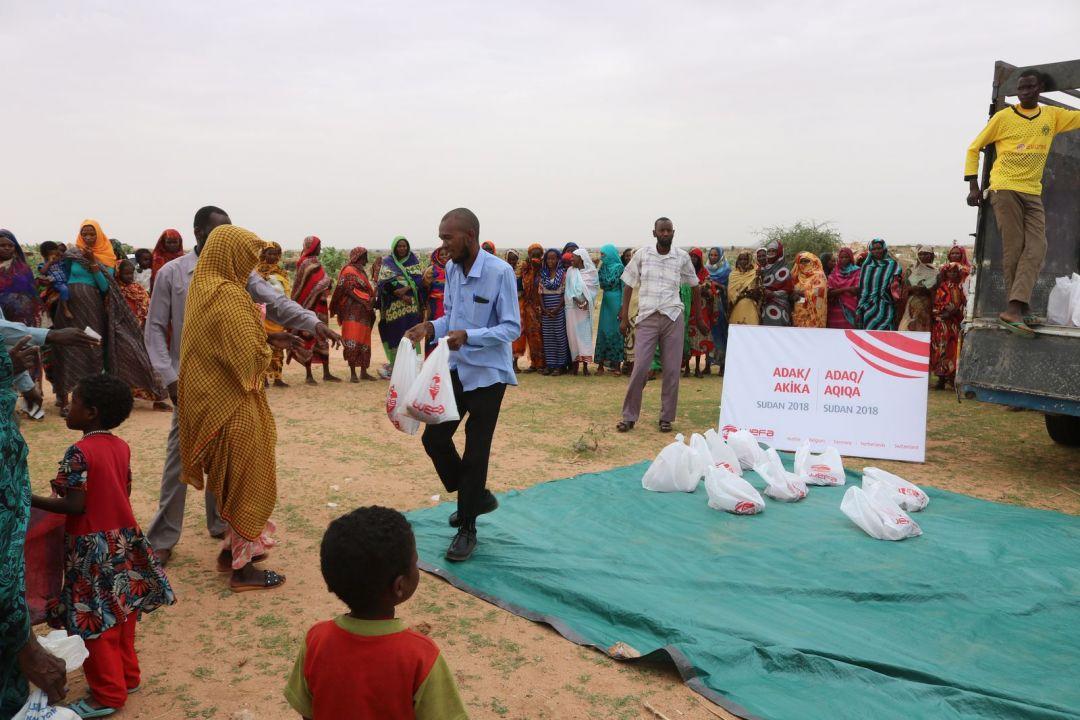 WEFA Uluslararası İnsani Yardım Organizasyonu Sudan'da yaşayan 1750 kişiye adak ve akika kurbanı ulaştırdı.