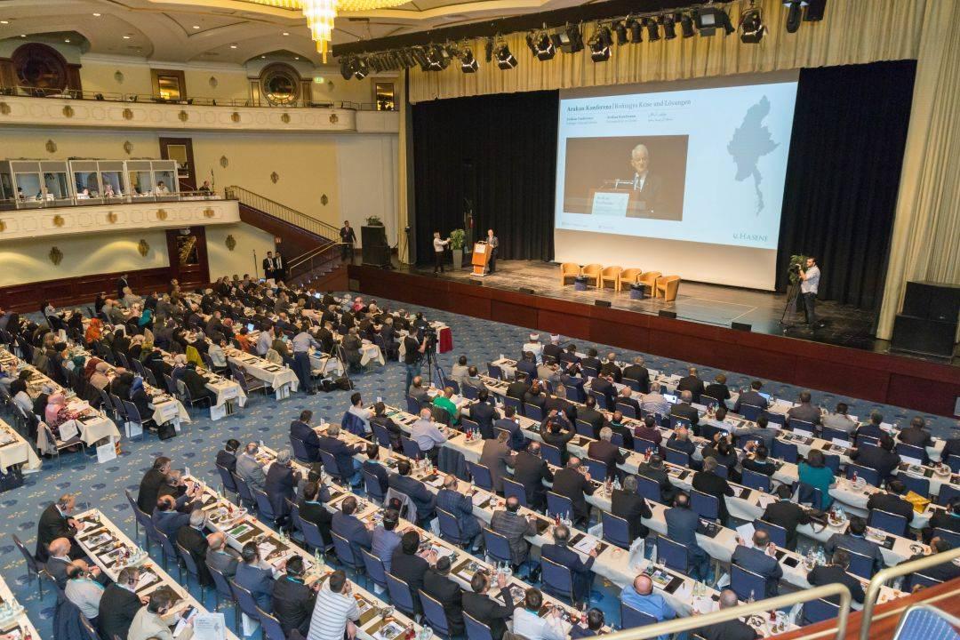 """WEFA Uluslararası İnsani Yardım Organizasyonu 2 Mayıs'ta Köln'de düzenlenen """"Uluslararası Rohingya Krizi ve Çözüm Yolları"""" başlıklı konferansa katıldı."""