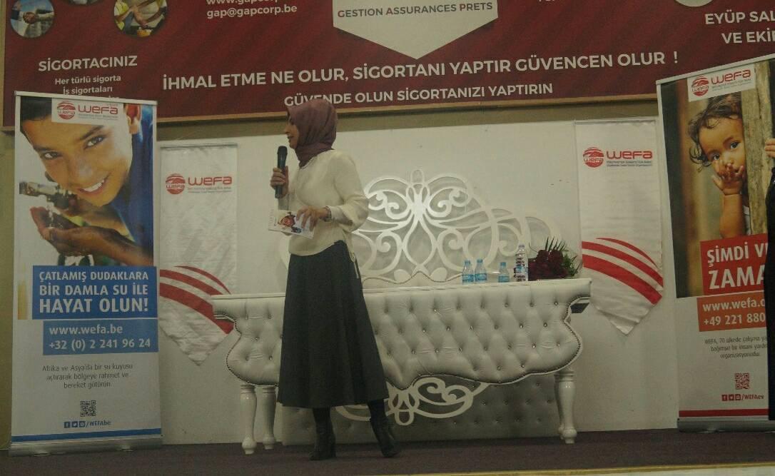 """WEFA Belçika'nın """"Afrika'daki katarakt hastaları"""" ile """"yetimler"""" yararına düzenlediği etkinlik yoğun ilgi gördü."""