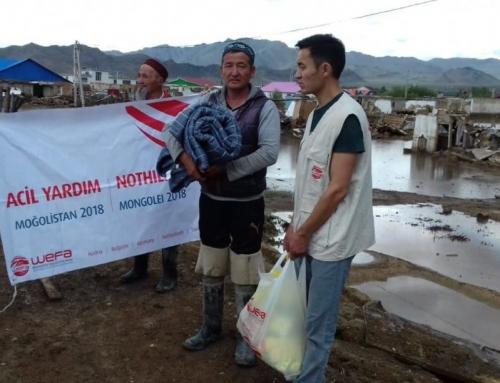 Moğolistan'daki Selzedelere WEFA'dan Yardım
