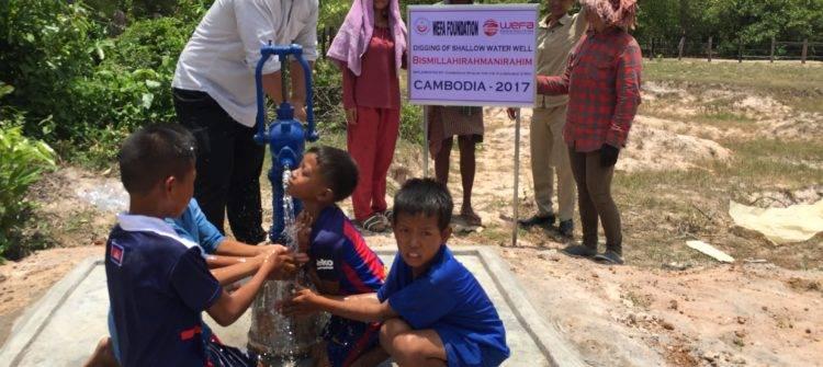 Die internationale Hilfsorganisation Wefa e.V. eröffnete allein im Jahr 2017 in neun verschiedenen Ländern der Kontinente Asien und Afrika Wasserbrunnen. Insgesamt erhalten mit dem Bau der Wasserbrunnen 29. 255 Menschen Zugang zu sauberem Trinkwasser.