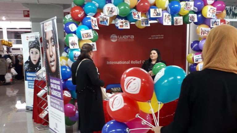 Hollanda'nın Lahey kentinde 22-23 Aralık tarihleri arasında düzenlenen Fest-iHijab etkinliğinde WEFA, tanıtım standı kurdu.