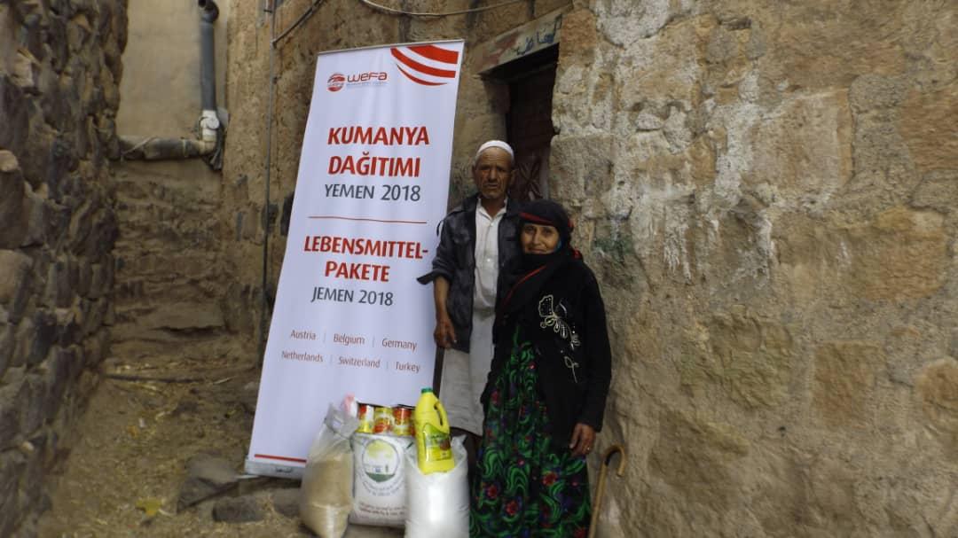 Yemen'e WEFA Gıda Yardımında Bulundu