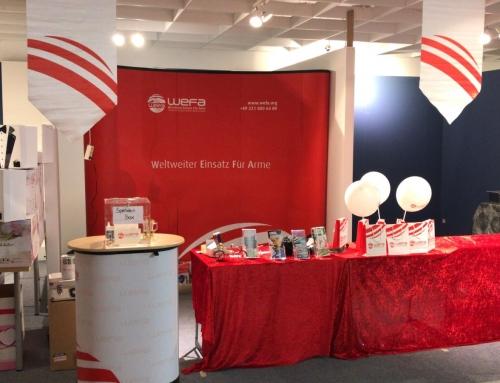 Frankfurter Buch- & Kulturmesse: WEFA baut Infostand auf