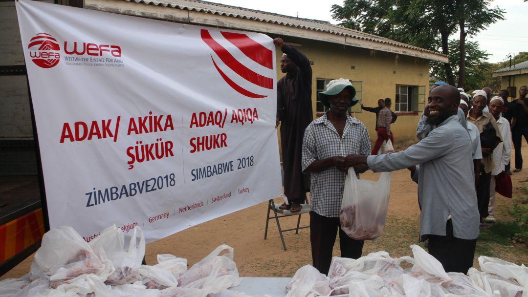 Adak, Akika Kurbanlarınızı WEFA, Zimbabve'de Kesti