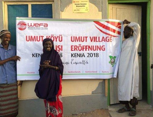 """WEFA baut Dorf in Kenia – Das """"Dorf der Hoffnung""""wächst und begrüßt seine neuen kenianischenBewohner."""