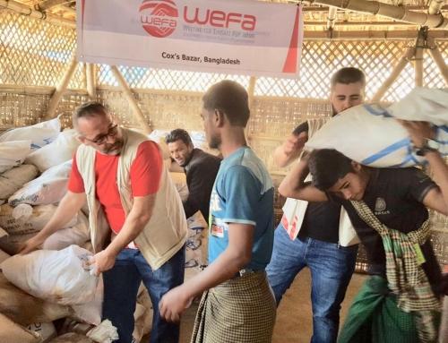 Rohingya-Flüchtlinge erhalten Lebensmittelhilfen