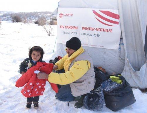 Arsal Kampı'ndaki Suriyeli Mültecilere WEFA'dan Kış Yardımı