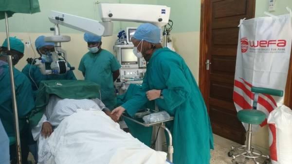 """""""Katarakt"""" projesi ile binlerce katarakt hastasını sağlığına kavuşturan WEFA Uluslararası İnsani Yardım Organizasyonu 2018 yılında 2.700 katarakt ameliyatı gerçekleştirdi."""