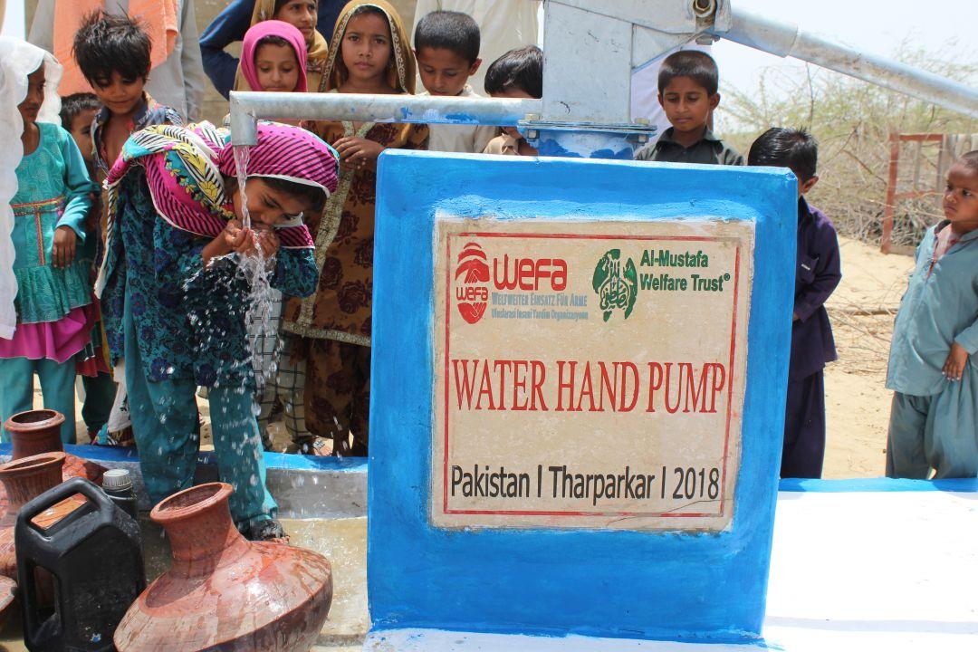 Asya ve Afrika'nın en kurak yerlerinde su kuyuları inşa eden WEFA Uluslararası İnsani Yardım Organizasyonu 2018 yılında Pakistan'da 151 su kuyusu açtı.