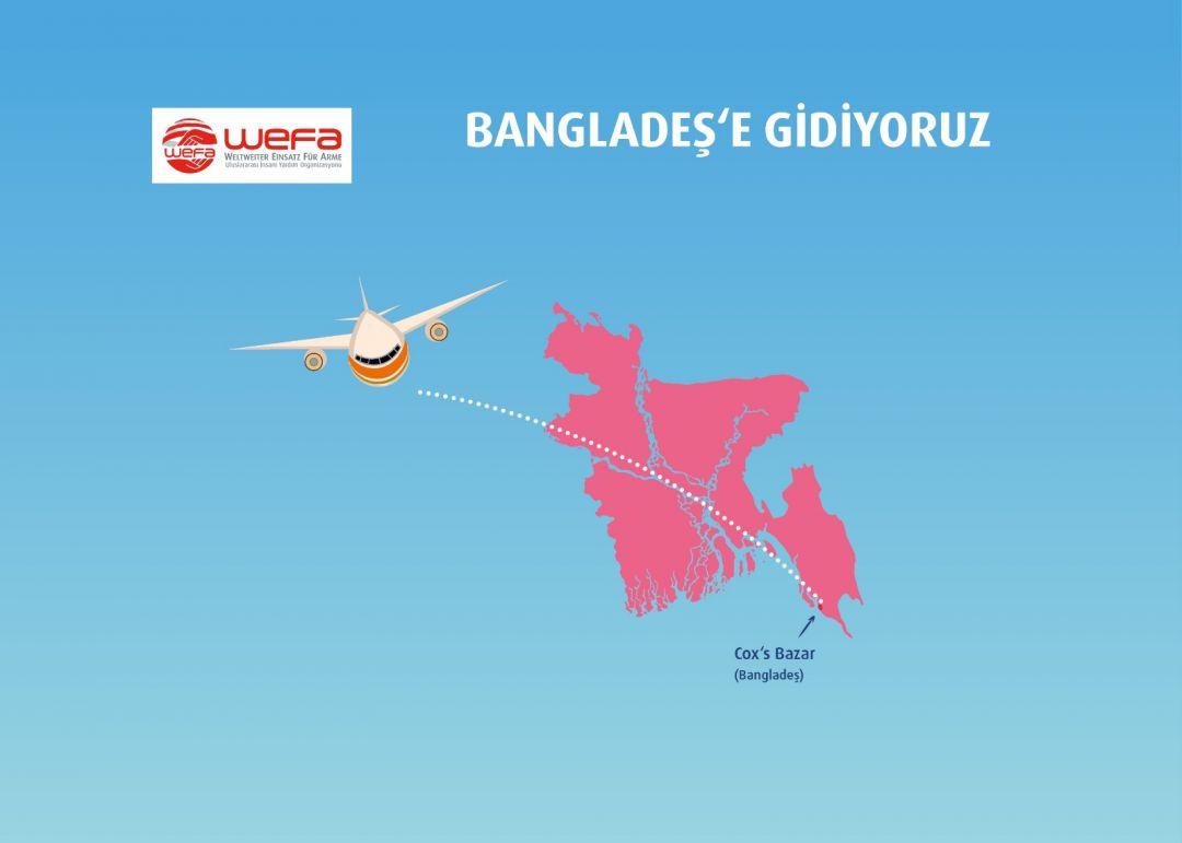 Bangladeş'te yaşayan Arakanlı mültecilere kış yardımı ulaştırmak üzere WEFA Uluslararası İnsani Yardım Organizasyonu 12 Ocak'ta Bangladeş'e gidiyor.