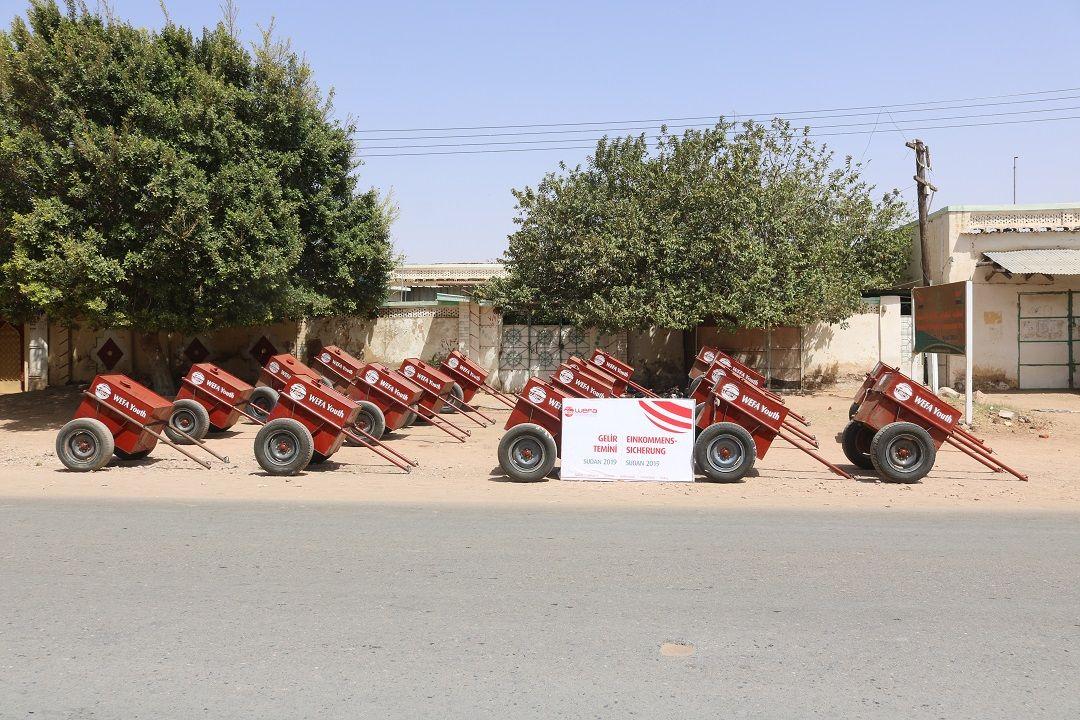 Genç WEFA hayata geçirdiği yeni projeyle Sudanlı ihtiyaç sahibi aileleri iş sahibi yapıyor.