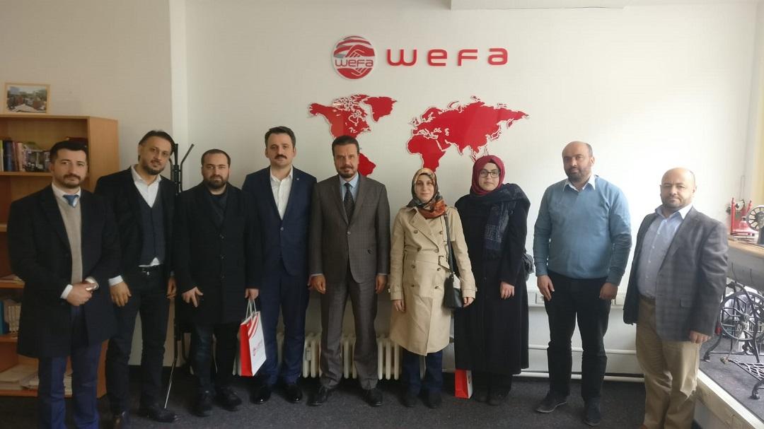 Türkiye Gençlik Vakfı kısa adıyla TÜGVA, WEFA Uluslararası İnsani Yardım Organizasyonu'nu ziyaret etti.