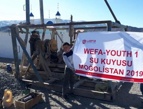 Moğolistan'a Genç WEFA'dan Su Kuyusu