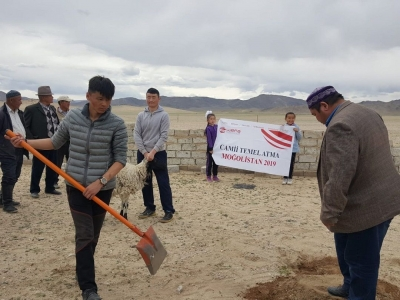 Moğolistan'ın Hovda ilinde WEFA Braunschweig tarafından inşa edilecek Abdulhamid Han Camii'nin temeli dualarla atıldı.