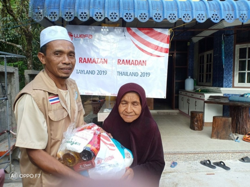 Tayland'a ramazan yardımları ulaştıran WEFA Uluslararası İnsani Yardım Organizasyonu Müslüman nüfusun yoğun olduğu bölgelerde kumanya yardımı gerçekleştirdi. Üç ayrı yerde kurduğu iftar sofralarında ise ihtiyaç sahiplerini ağırladı.