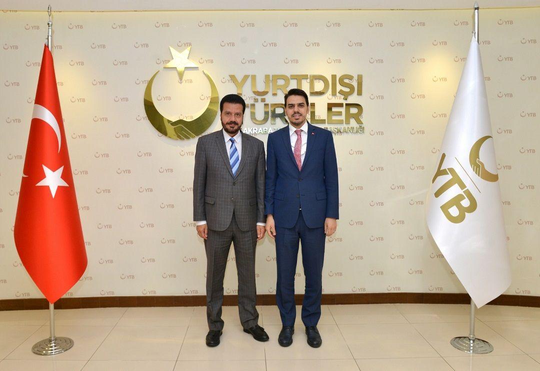 Yurtdışı Türkler ve Akraba Topluluklar Başkanlığı'nı (YTB) ziyaret eden WEFA Uluslararası İnsani Yardım Organizasyonu Genel Başkanı Musab Aydın Almanya'da yaptıkları çalışmalar hakkında bilgiler verdi.