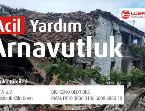 Arnavutluk'taki Depremzedeler İçin WEFA'dan Acil Yardım Çağrısı