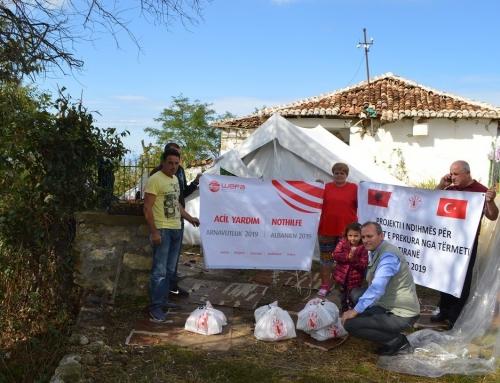 Arnavutluk'taki Depremzedelere WEFA'dan Gıda Yardımı
