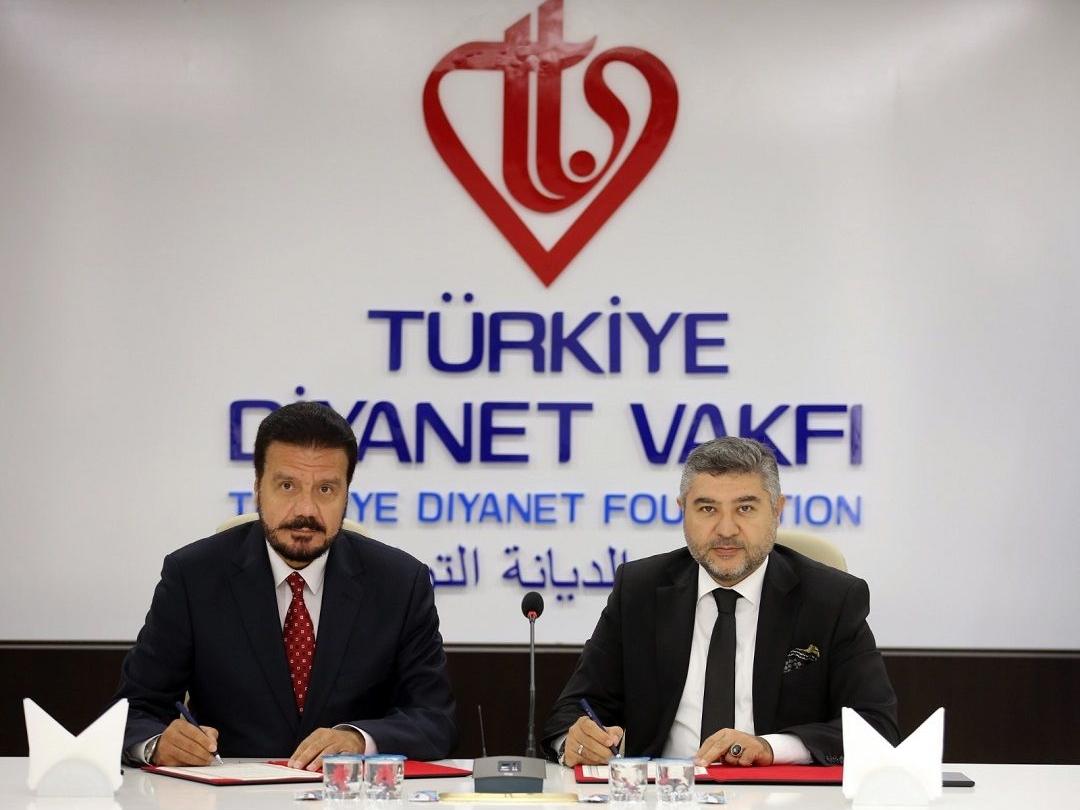 Türkiye Diyanet Vakfı (TDV) ve WEFA Uluslararası İnsani Yardım Organizasyonu arasında işbirliği protokolü imzalandı.