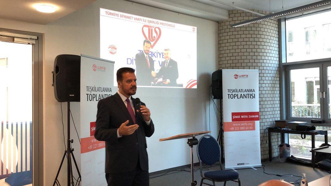 WEFA Uluslararası İnsani Yardım Organizasyonu 11. Teşkilatlanma Toplantısı'nı 10 Kasım Pazar günü Köln'de gerçekleştirdi.