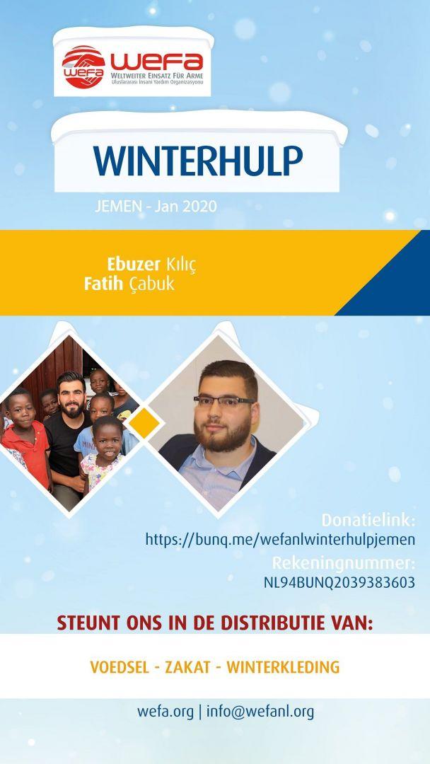 In Jemen, waar de crisis een ernstig niveau heeft bereikt, wachten mensen angstig op de winter. De internationale humanitaire organisatie WEFA, die in januari naar Jemen zal gaan, zal ook dit jaar winterhulp verlenen aan behoeftigen in het land.