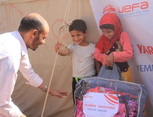 Yemen'e WEFA Bu Kış da Yardım Ulaştıracak