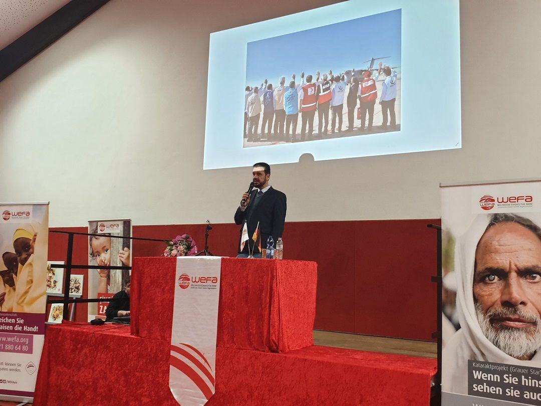 """""""WEFA Buluşmaları"""" programının ilki Almanya'nın Stadtallendorf kentinde organize edildi. Hayati İnanç'ın konuşmacı olarak katıldığı programa vatandaşların ilgisi yoğun oldu."""