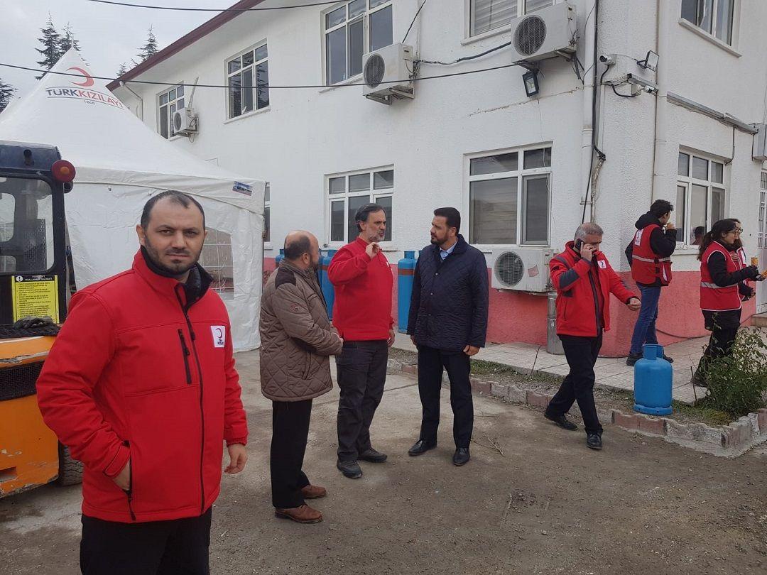 WEFA Genel Başkanı ve beraberindeki heyet bugün Elazığ Bölge Afet Yönetimi Müdürlüğünü ziyaret etti.