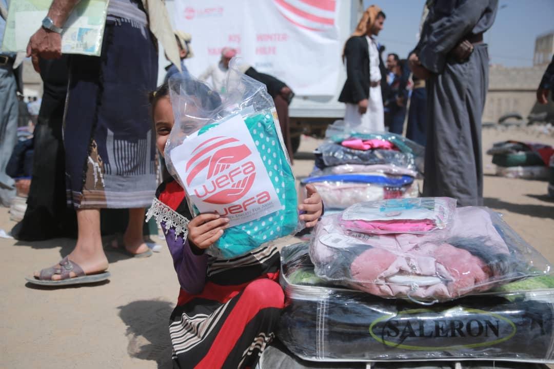 Kış yardımları kapsamında yardım çalışmalarına hız kesmeden devam eden WEFA Uluslararası İnsani Yardım Organizasyonu Yemen'deki ihtiyaç sahiplerini bu kış da unutmadı.