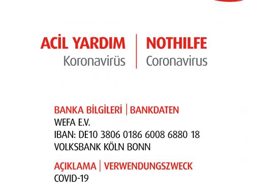WEFA startet eine Nothilfe Kampagne wegen dem Coronavirus