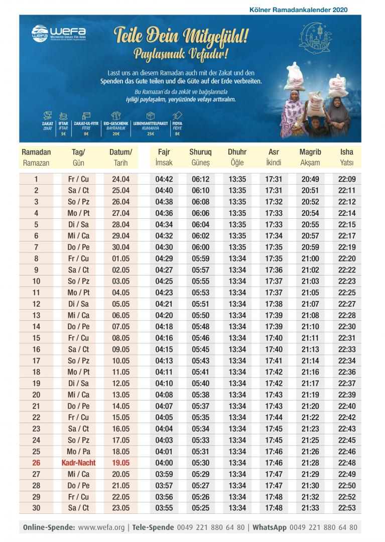 Ramadan 2021 Essenszeiten Nrw