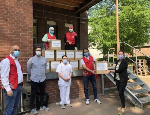 Übergabe von Masken an Krankenhäuser von WEFA und UID