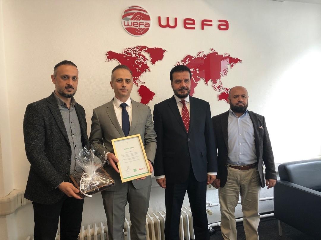 T.C. Köln Başkonsolosu Barış Ceyhun Erciyes WEFA'ya nezaket ziyaretinde bulundu.
