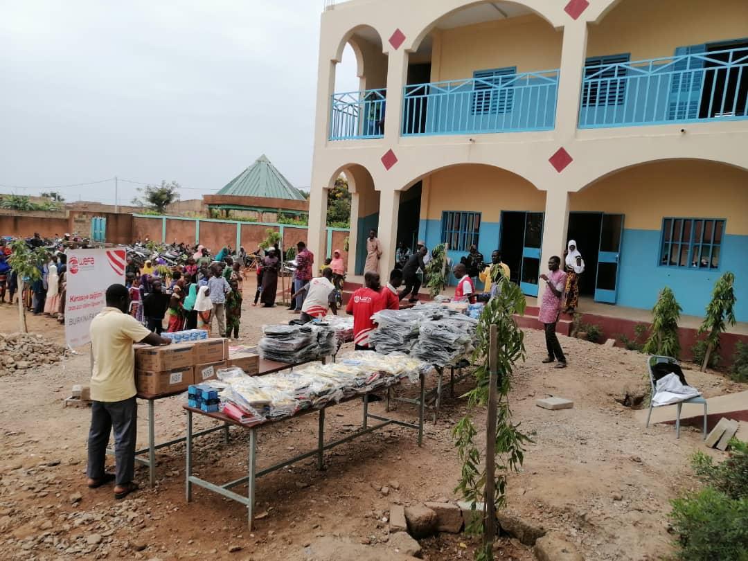 school opening in Africa