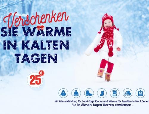 Winterhilfe: Verschenken Sie wärme in kalten Tagen