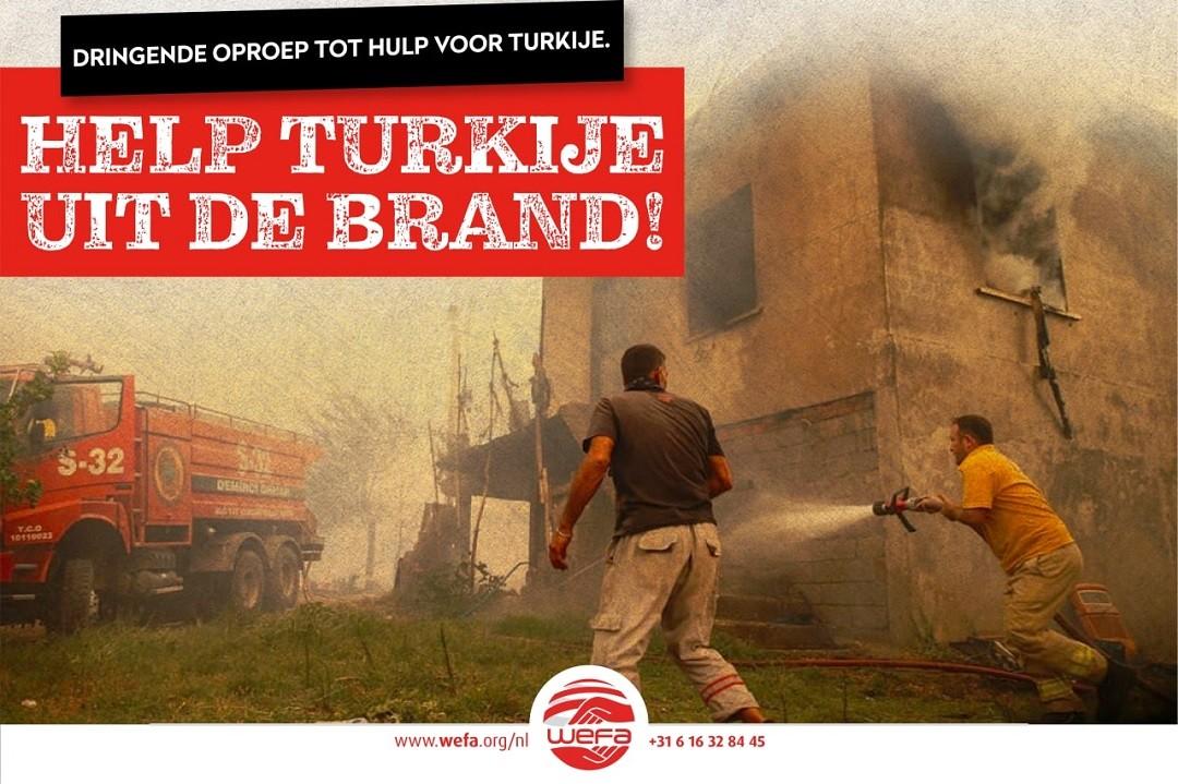 Brand in Turkije noodhulpcampagne van WEFA